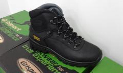 Мужские черние зимние кожание ботинки GRISPORT