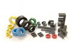 Ferrite cores for pulse transformers and throttles