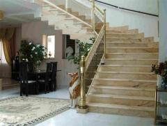 Steps, ladders from marble and granite to order
