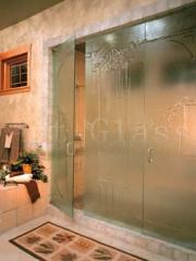 Doors for shower cabins glass