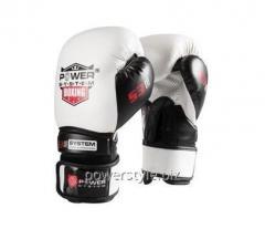 Боксерские перчатки PowerSystem PS 5001 White 12