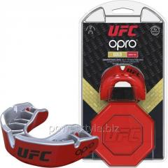 Капа OPRO Gold UFC Hologram Red Metal/Silver