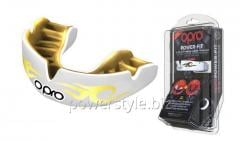 Капа OPRO Power-Fit Bling-Urban Series White/Gold
