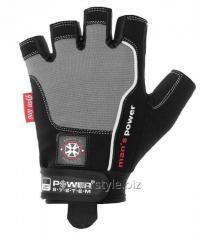 Перчатки для фитнеса и тяжелой атлетики Power System Man's Power PS-2580 M Black/Grey