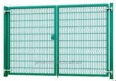 Ворота распашные 2,03х3м, 3Д с замком-ручкой, цинк+полимерное покрытие