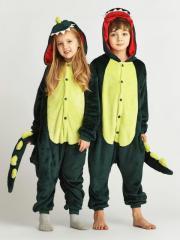 Детский Кигуруми (пижама) - Зеленый динозавр -