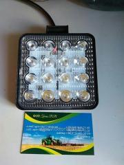 Светодиодная фара квадратная 48W, 16 ламп, узкий