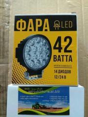 Светодиодная фара круглая 42W,  14 ламп, ...