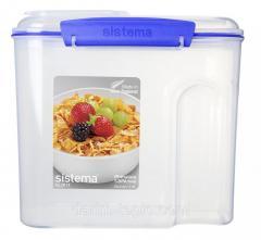 Контейнер для сыпучих продуктов 2,8 л Sistema KLIP