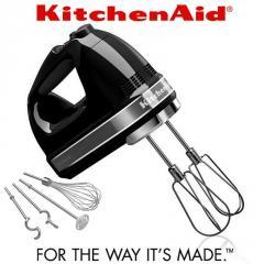Ручной черный миксер KitchenAid 5KHM9212EOB
