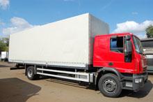 Trucks, motor vans manufactured goods loading