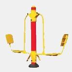 Press legs horizontal