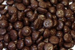Cookies in dark chocolate