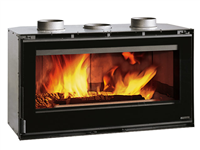 Chimney fire chamber of Nordica Inserto 100