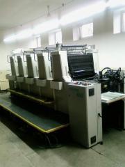 Five-colourful offset machine, Roland 105 HOB,