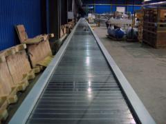 Conveyors with a metal tape Kiev