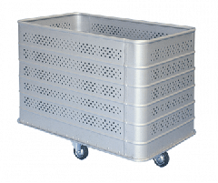 Carts for laundries from aluminum