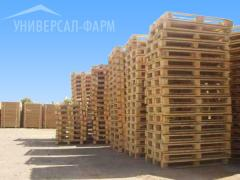 We realize wooden pallets of various sizes