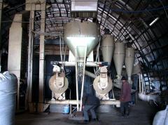 Line of a granulation energy saving