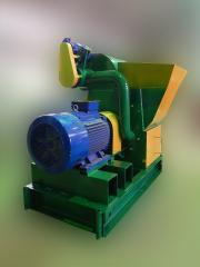 The Molotkovy crusher of 2 t/hour, processes even