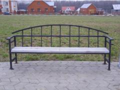 Переносная кованая садовая скамейка,Харьков от