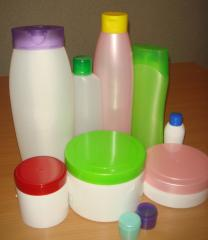 Container plastic for the cosmetic industry