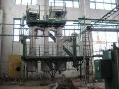 Evaporation plant of 5000 kg of the evaporated