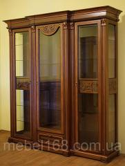 Трехдверная витрина Эдельвейс из массива