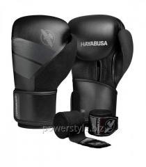Боксерские перчатки Hayabusa S4 - черные 16oz (Original)