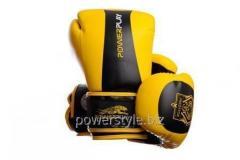 Боксерские перчатки PowerPlay 3003 желто-черные 12