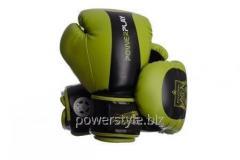 Боксерские перчатки PowerPlay 3003 Зелено-черные