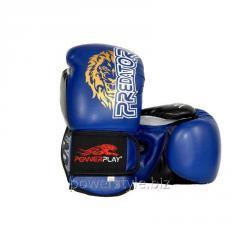 Боксерские перчатки PowerPlay 3006 синие 16 унций