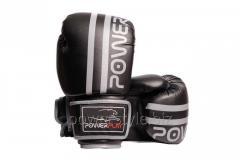 Боксерские перчатки PowerPlay 3010 черно-серый 14