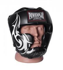 Боксерский шлем тренировочный PowerPlay 3043 чорний L