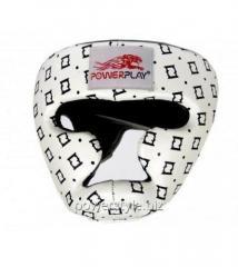 Боксерский шлем тренировочный PowerPlay 3044 белый L