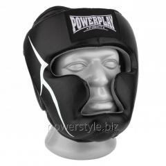 Боксерский шлем тренировочный PowerPlay 3066 PU + Amara чорний M