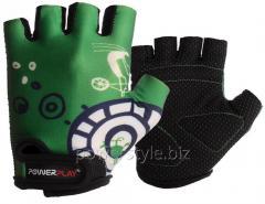 Велоперчатки PowerPlay 001 A зеленый XS