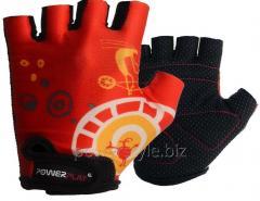 Велоперчатки PowerPlay 001 B красные XS