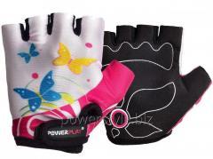 Велоперчатки PowerPlay 5470 Бело-розовый S