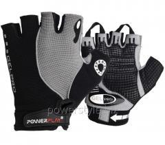 Велоперчатки PowerPlay 5019 черно-серый XS