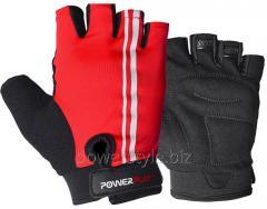 Велоперчатки PowerPlay 5031 B красные XS