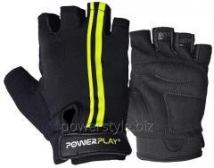 Велоперчатки PowerPlay 5031 G черно-желтые L