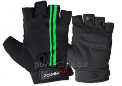 Велоперчатки PowerPlay 5031 черно-зеленый L