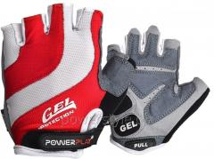 Велоперчатки PowerPlay 5034 A Бело-красные S