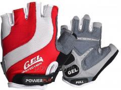 Велоперчатки PowerPlay 5034 A Бело-красные XL