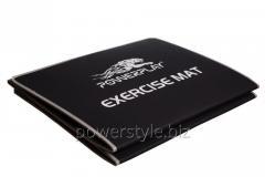 Коврик для фитнеса и йоги складний PowerPlay 4013 (180*60*0.6) чорний