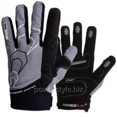 Велоперчатки PowerPlay 6556 серый XXL