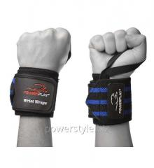 Бинт для запястий PowerPlay 3082 черно-синие Level 2