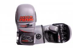 Перчатки для MMA PowerPlay 3026 серый XS