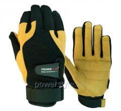 Перчатки для кроссфита Powerplay 2075 черно-Коричневі XL